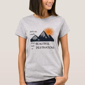 Motivation-Tee Difficult Roads T-Shirt