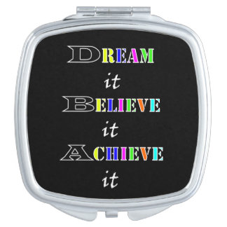 Motivational achievement and Dreams Quotes Mirror For Makeup