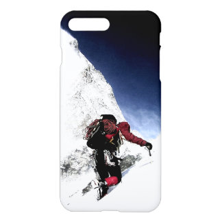 Motivational Achievement Mountaineer at Top iPhone 7 Plus Case