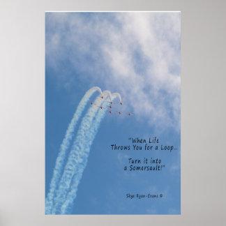 Motivational Aerobatic Sub-sonic Turbo-Jet Stunt Poster