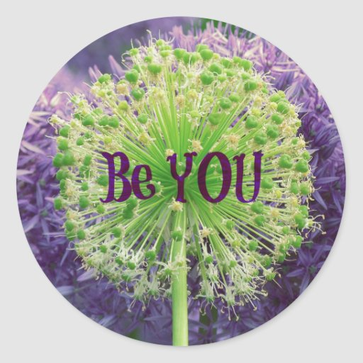 Motivational Be You Quote Round Stickers