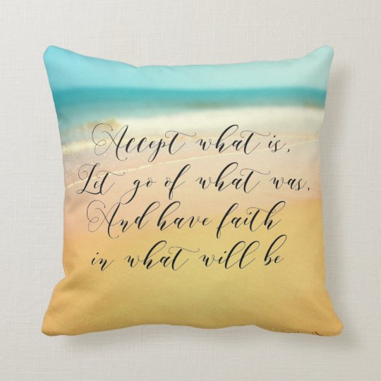 Motivational, beach, romantic cushion