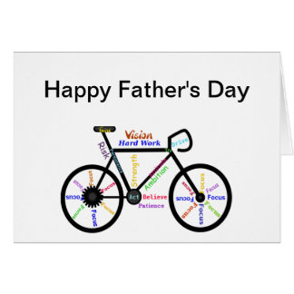 Motivational Bike, Bicycle, Cycling Father's Day Greeting Card
