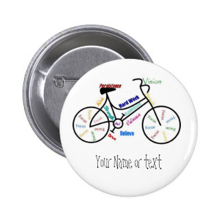 Motivational Bike, Bicycle, Cycling, Sport, Hobby 2 Inch Round Button