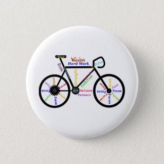 Motivational Bike, Cycle, Biking, Sport Words 2 Inch Round Button