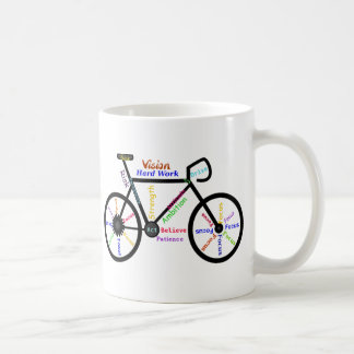Motivational Bike, Cycle, Biking, Sport Words Coffee Mug