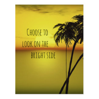Motivational Bright Side Quote with Ocean Postcard