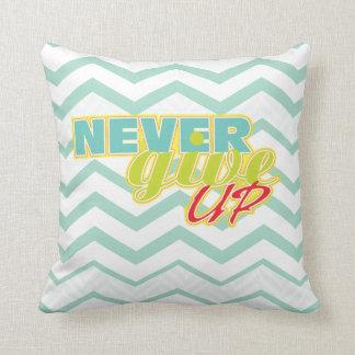 Motivational Chevron throw pillow