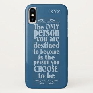 Motivational CHOICE custom monogram cases