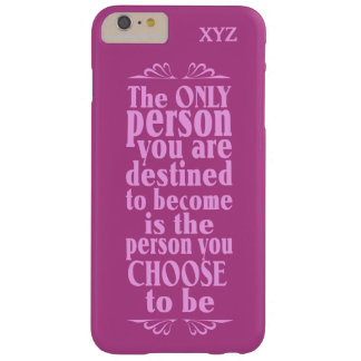 Motivational CHOICE custom monogram cases Barely There iPhone 6 Plus Case