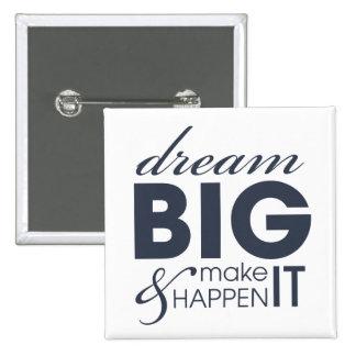 Motivational Dream Work Success 2 Inch Square Button