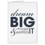 Motivational Dream Work Success Card