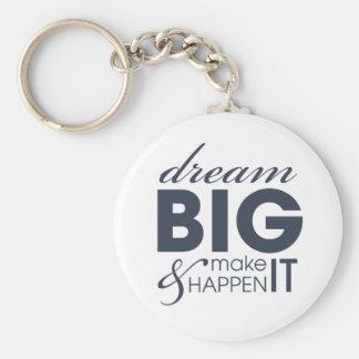 Motivational Dream Work Success Keychain