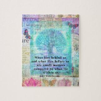 Motivational encouraging life quote puzzle