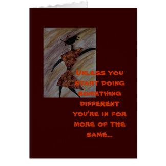 Motivational Ethnic Greeting Card