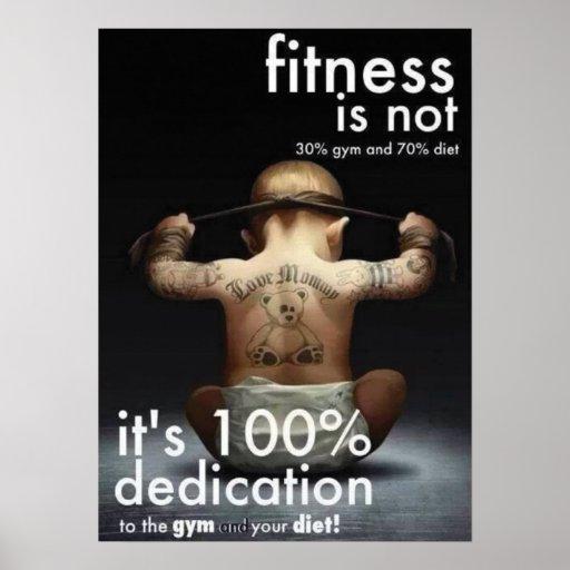 Motivational Gym Poster - Dedication
