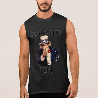 Motivational Gym Uncle Sam I wants you to Lift Sleeveless Shirt