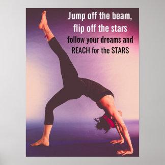 Motivational Gymnastics Quote Poster