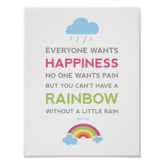 Motivational Happiness Quote Poster