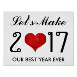Motivational Happy New Year 2017 Best Year Ever Poster