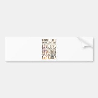 motivational inspirational bumper sticker