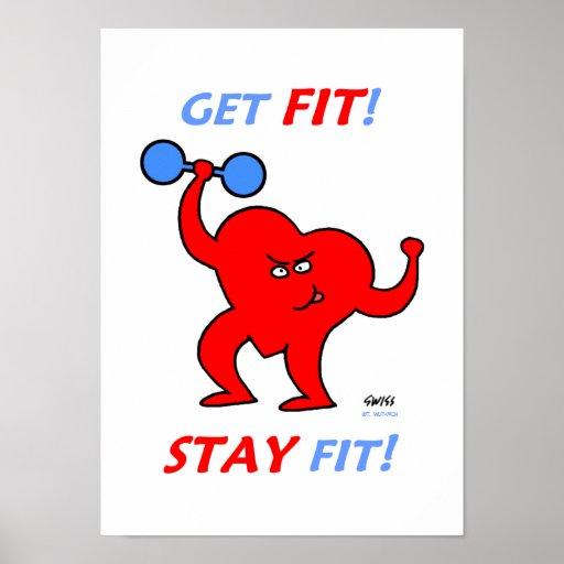Motivational Inspirational Heart Fitness Poster