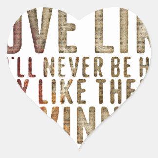 motivational inspirational heart sticker