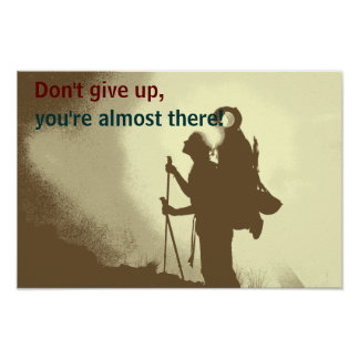 Motivational Inspirational Hiking Classroom Poster