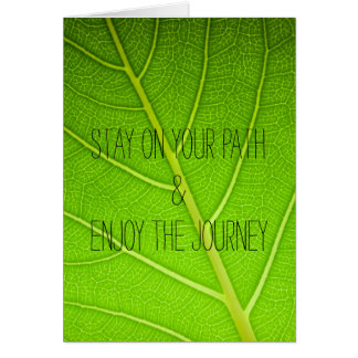 Motivational Inspirational Nature Leaf Quote Card