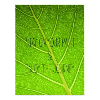 Motivational Inspirational Nature Leaf Quote Postcard
