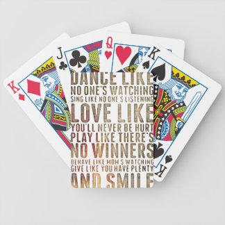 motivational inspirational poker deck
