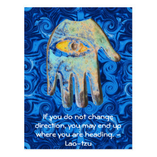 Motivational Inspirational Quote Lao tzu Postcard