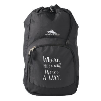 Motivational Inspirational Quote Saying Typography Backpack