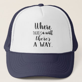 Motivational Inspirational Quote Saying Typography Trucker Hat