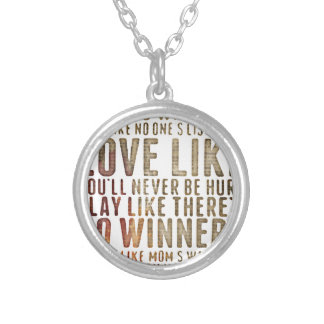 motivational inspirational silver plated necklace