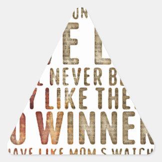 motivational inspirational triangle sticker
