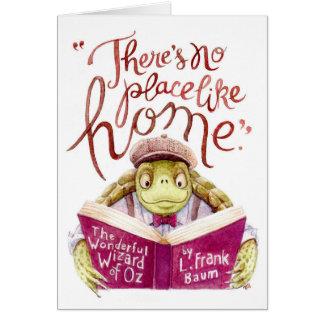 Motivational L. Frank Baum Quote Watercolor Turtle Card