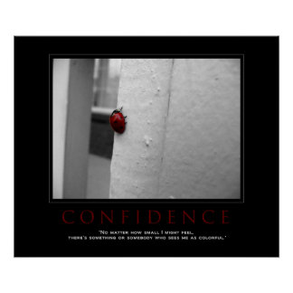 "Motivational Ladybug ""Confidence"" Poster"