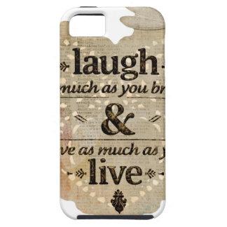 motivational laugh love iPhone 5 cases