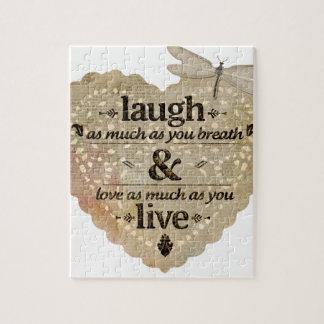 motivational laugh love puzzle
