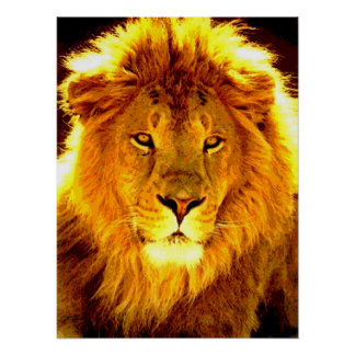 Motivational Leadership Lion Pop Art Poster