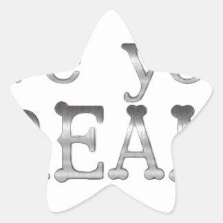 motivational live your dreams star sticker