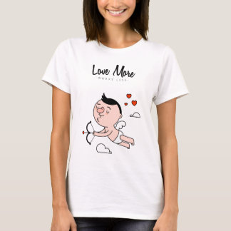 "Motivational ""Love More, Worry Less"" T-shirt"
