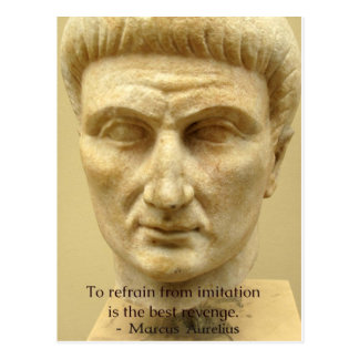Motivational Marcus Aurelius quote about LIFE Postcard