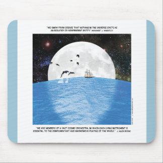 Motivational Moon Comic Mouse Pad
