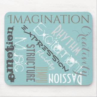 Motivational Mouse Pad Musical Inspiration