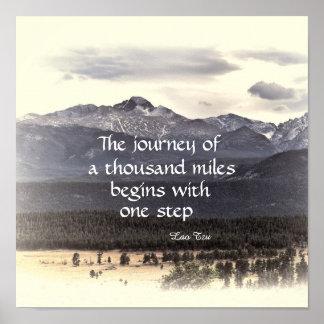 motivational nature poster zen quote the journey
