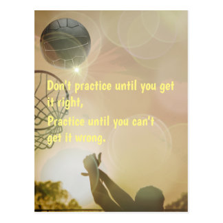 Motivational Netball Picture With Quote Postcard
