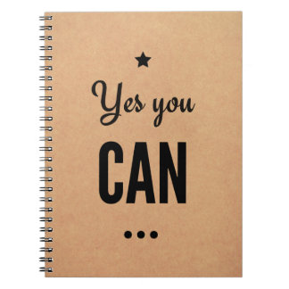 Motivational Notebook: Yes You Can Notebook