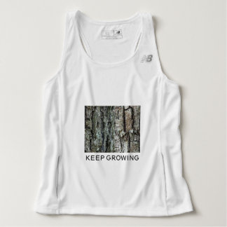Motivational Old Pine Bark Photo Keep Growing Tank Top